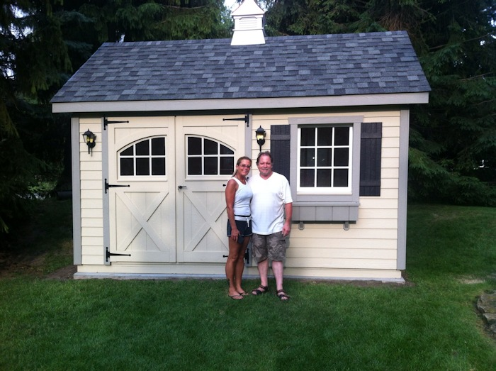 Completed Shed with Customer