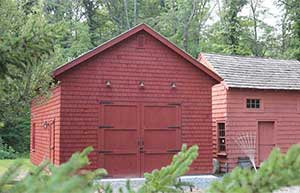 custom shed to match historic building