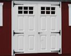 Single and Double Fiberglass and Wooden Doors with Windows Lapp Structure Sheds Garages width=