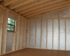 Standard Interior Options for Lapp Structure Storage Sheds and Dreamspaces