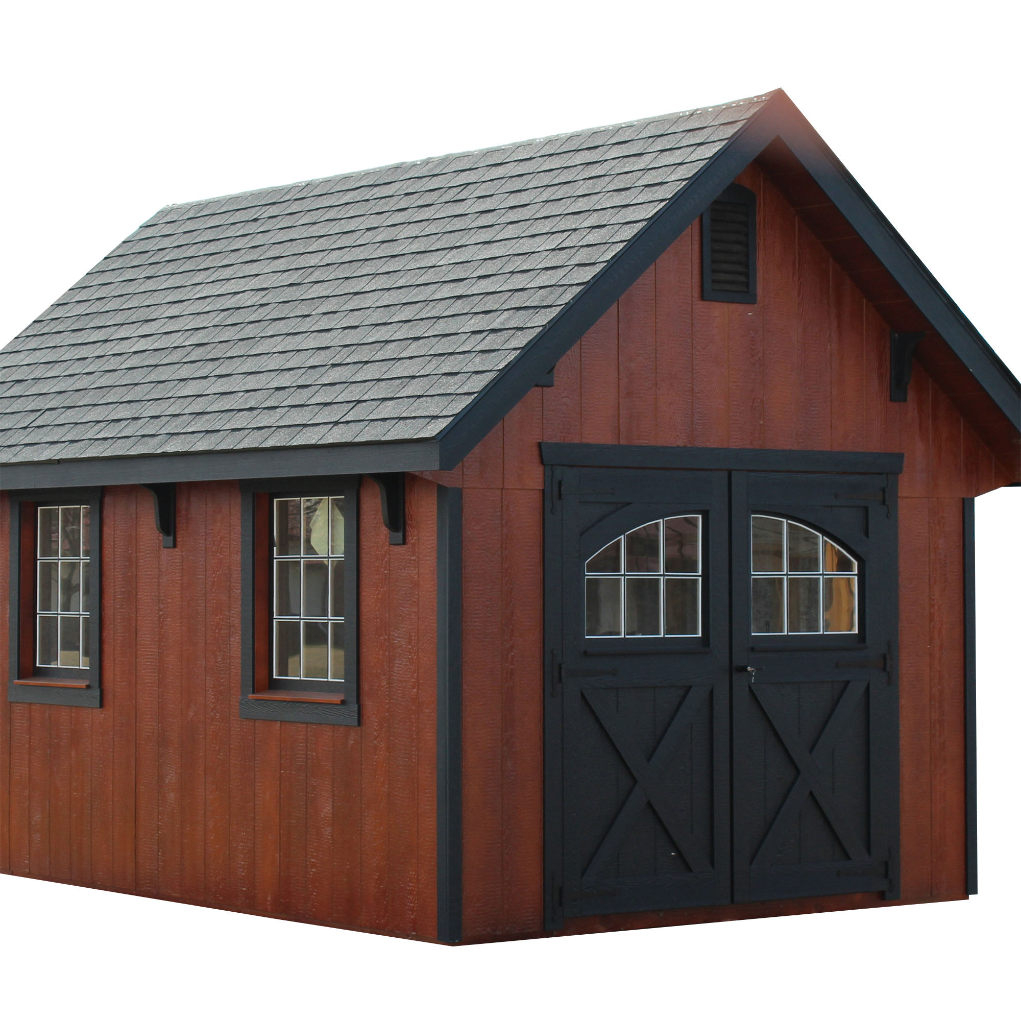 "12"" Overhangs on Garden Shed"