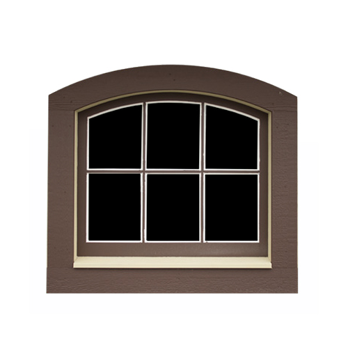 6-Pane Arched Wooden Window