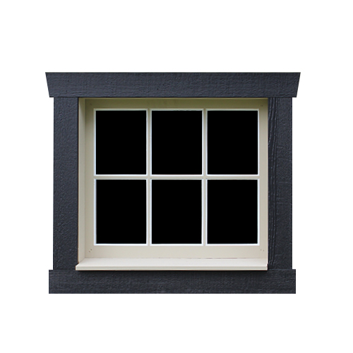 6-Pane Wooden Window