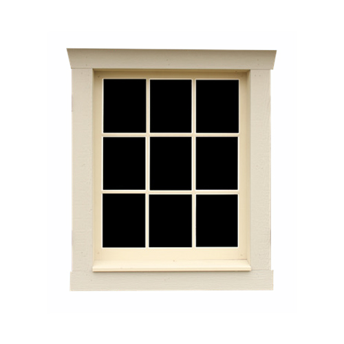9-Pane Wooden Window