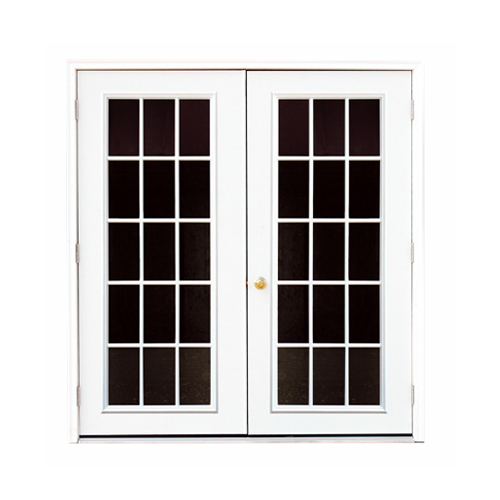Fiberglass 15-lite Double Door