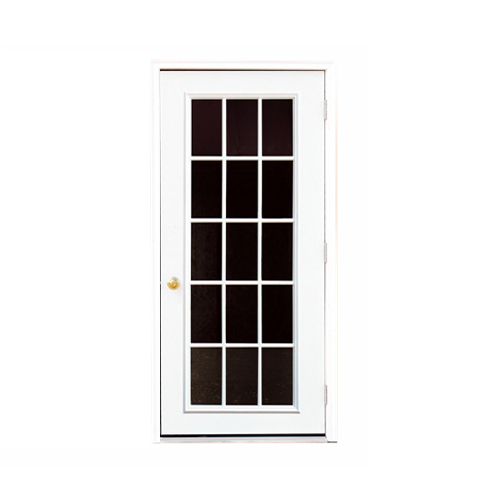 Fiberglass 15-lite Single Door
