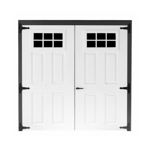 Fiberglass 6-lite Double Door