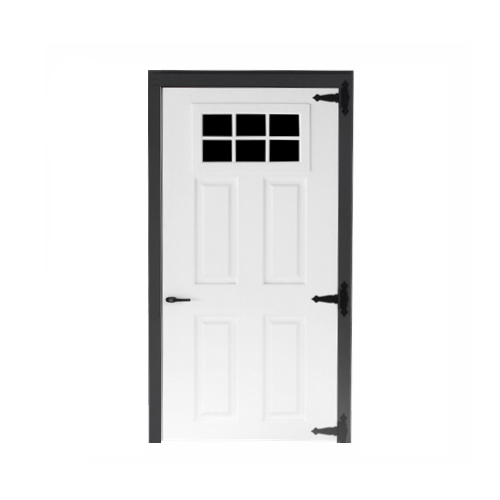 Fiberglass 6-lite Single Door