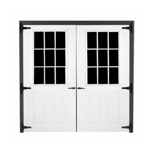 Fiberglass 9-lite Double Door