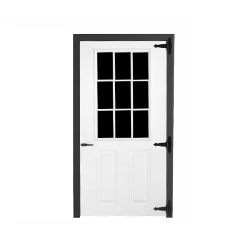 Fiberglass 9-lite Single Door