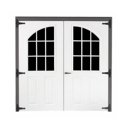 Fiberglass Arched 9-lite Double Door