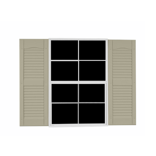 Louvered Vinyl Shutter