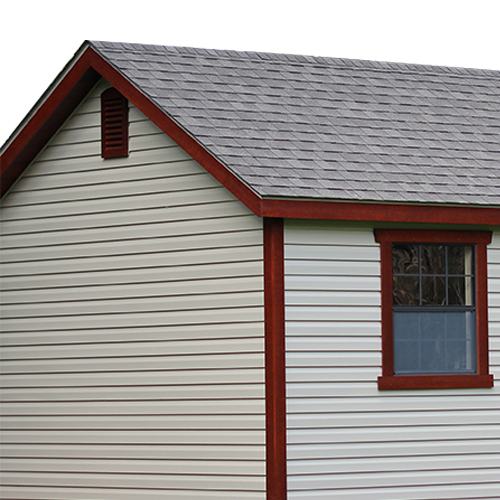 MiraTec Trim Package on Vinyl Sheds
