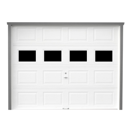 Overhead Garage Doors with 4-Panel Windows