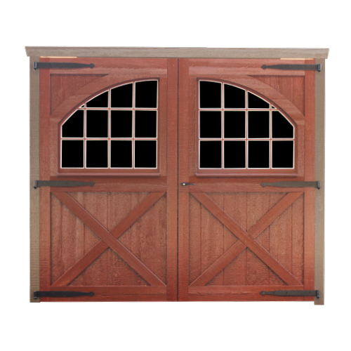 Wood 8'x7' Carriage House Double Barn Door