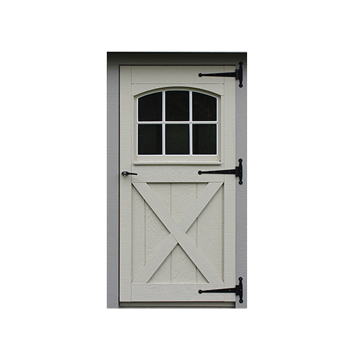 Wood Carriage House Single Door