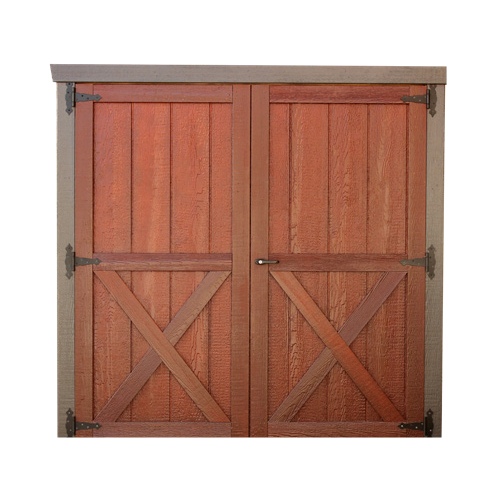 Wood Double Door with X
