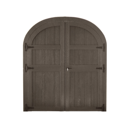 Wood Rounded Double Door
