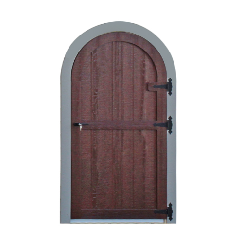 Wood Rounded Single Door