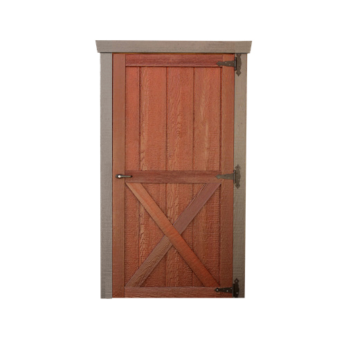 Wood Single Door with X