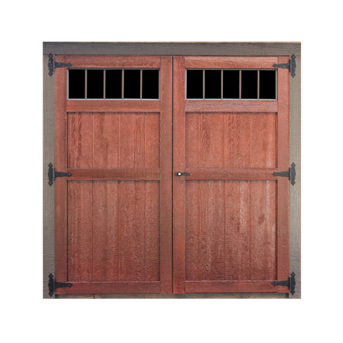 Wood Transom Double Door