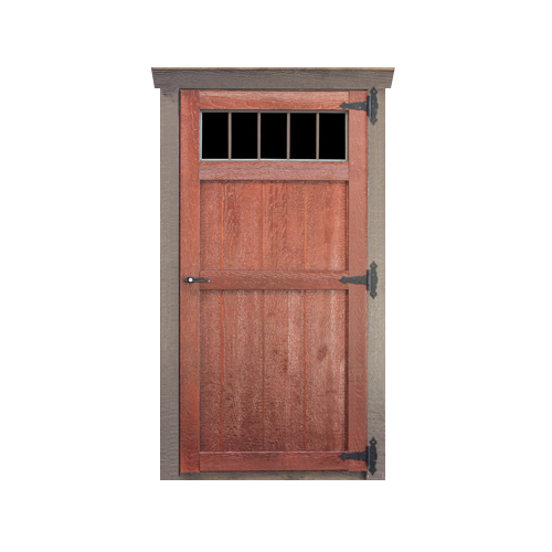 Wood Transom Single Door