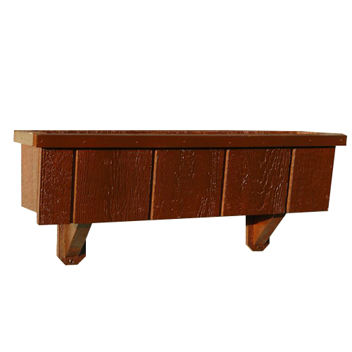 Wooden Window Box with Braces