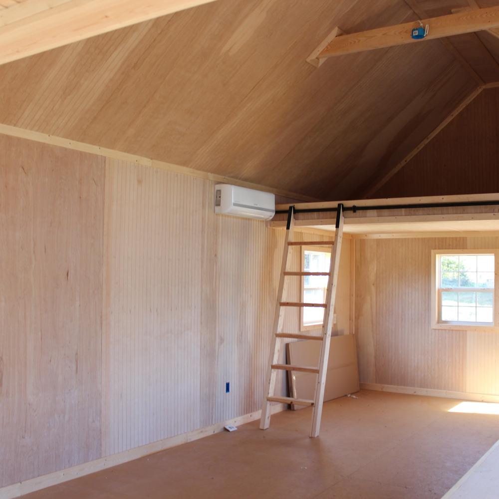 Beaded Plywood Finished Interior