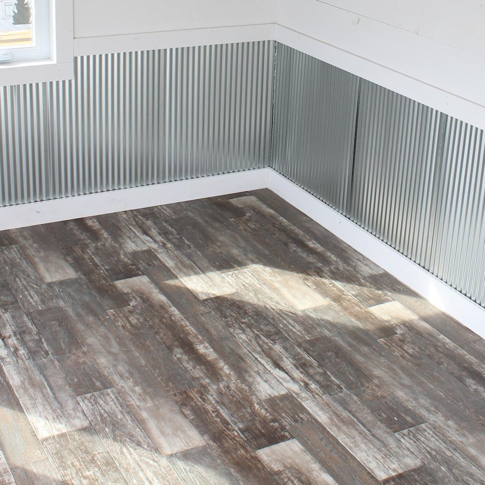Linoleum Finished Shed Floor