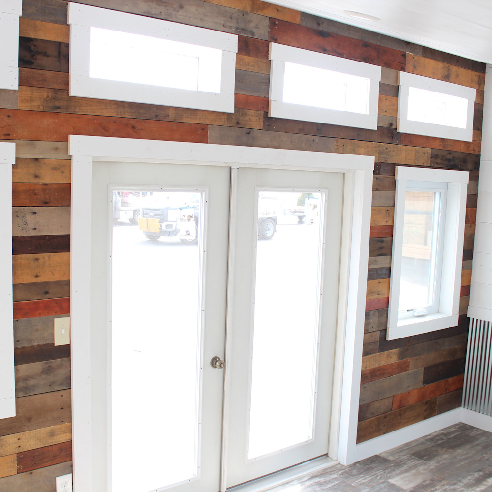 Pallet Material Accent Wall