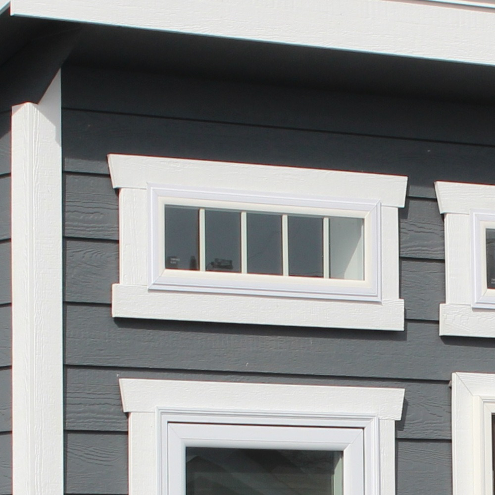 Short Vinyl Insulated Transom Window