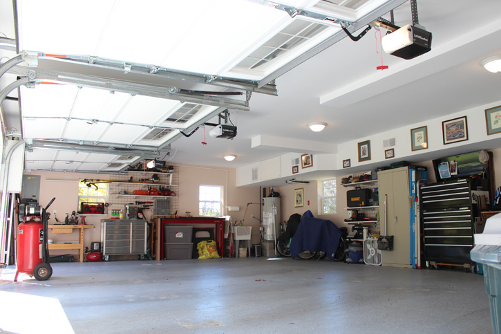 The first floor of our customer's gambrel garage Accessory Dwelling Unit