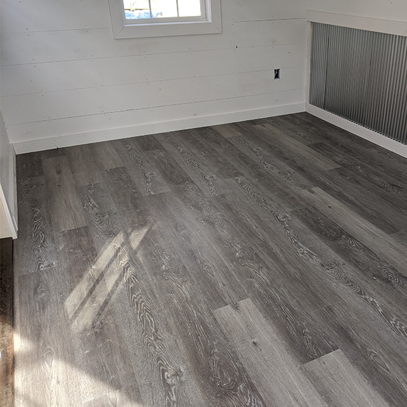 LVT Laminate Finished Shed Floor