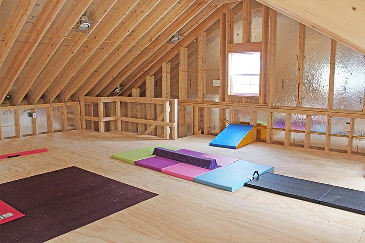 yogo studio in a garage attic