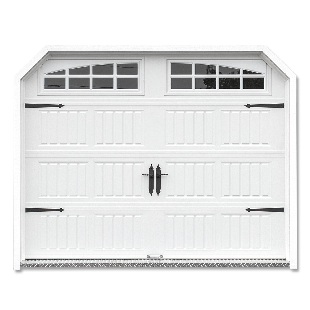 Heritage Overhead Door with Stockton Arched Windows